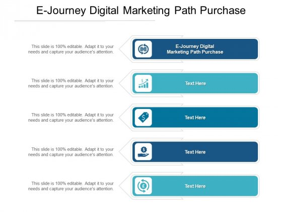 E Journey Digital Marketing Path Purchase Ppt PowerPoint Presentation Summary Graphics Template Cpb Pdf