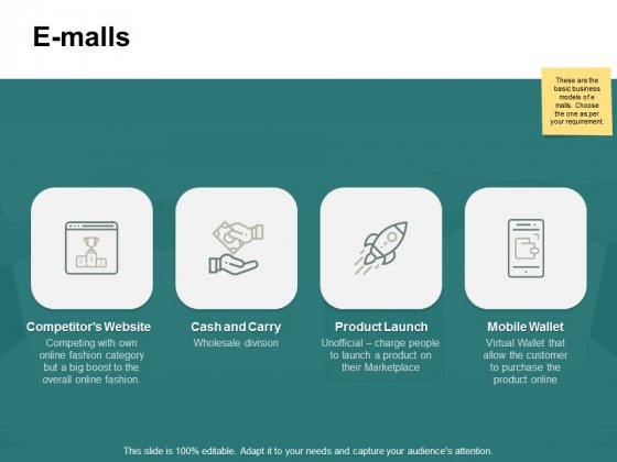 E Malls Mobile Wallet Ppt PowerPoint Presentation Infographics
