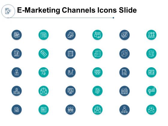 E Marketing Channels Icons Slide Growth Ppt PowerPoint Presentation Gallery Portfolio