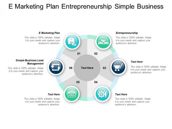 E Marketing Plan Entrepreneurship Simple Business Lead Management Ppt PowerPoint Presentation Pictures Influencers