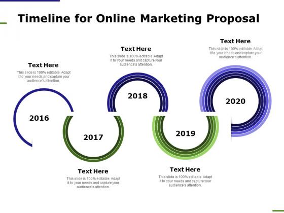 E Marketing Timeline For Online Marketing Proposal Ppt Infographics Professional PDF