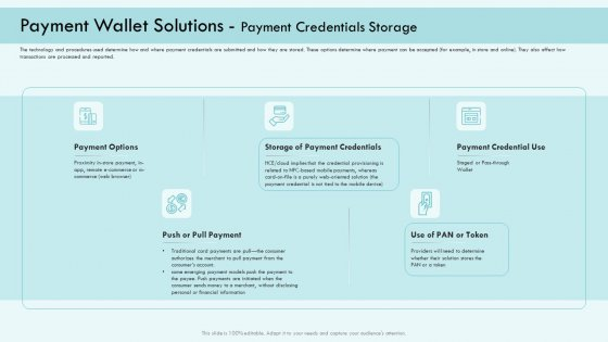 E Payment Transaction System Payment Wallet Solutions Payment Credentials Storage Demonstration PDF