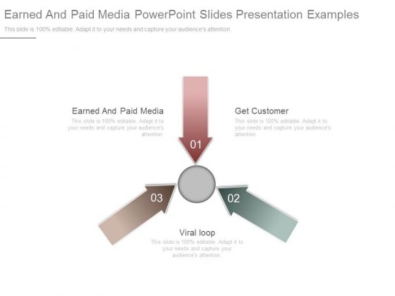Earned And Paid Media Powerpoint Slides Presentation Examples
