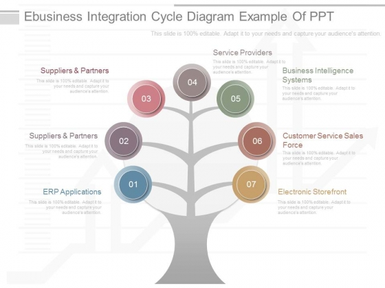 Ebusiness Integration Cycle Diagram Example Of Ppt