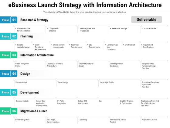 Ebusiness Launch Strategy With Information Architecture Ppt PowerPoint Presentation Gallery Graphics Pictures PDF