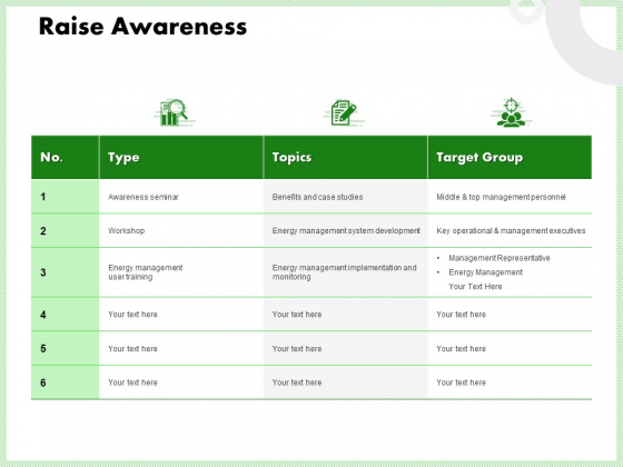 Eco Friendly And Feasibility Management Raise Awareness Themes PDF
