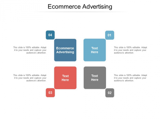 Ecommerce Advertising Ppt PowerPoint Presentation Professional Portfolio Cpb