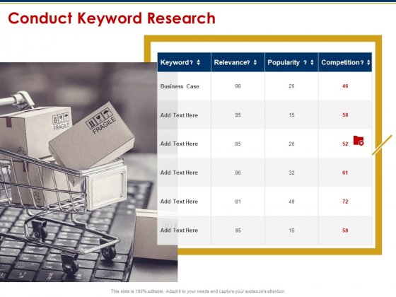 Ecommerce And SEO Plan Checklist Conduct Keyword Research Microsoft PDF