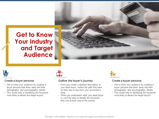 Ecommerce And SEO Plan Checklist Get To Know Your Industry And Target Audience Slides PDF