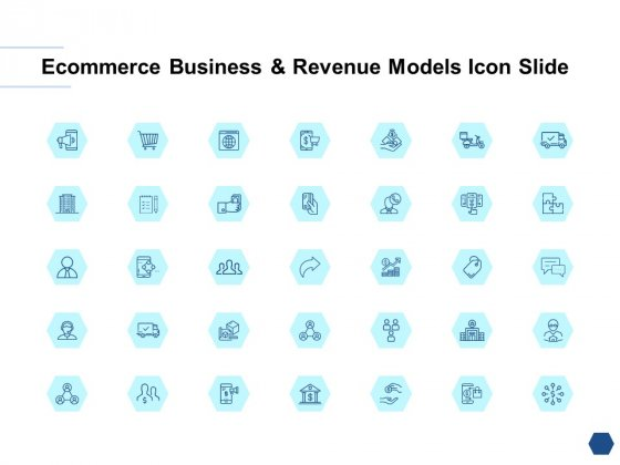 Ecommerce Business And Revenue Models Icon Slide Puzzle Ppt PowerPoint Presentation Portfolio Themes