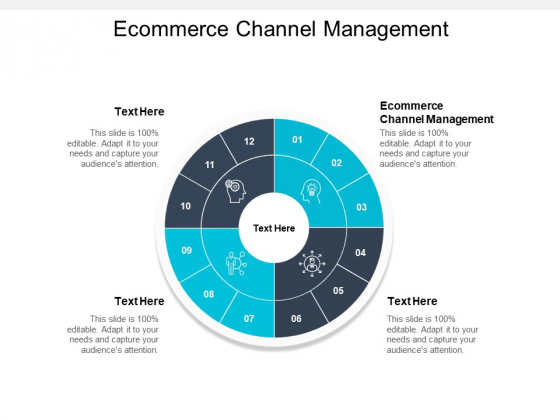 Ecommerce Channel Management Ppt PowerPoint Presentation Infographics Graphics Download Cpb