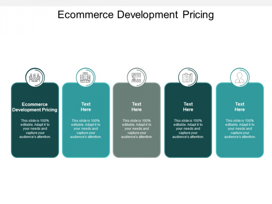 Ecommerce Development Pricing Ppt PowerPoint Presentation File Gallery Cpb