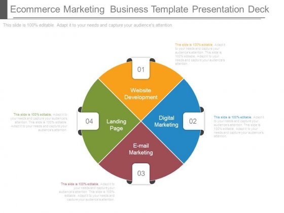 Ecommerce Marketing Business Template Presentation Deck