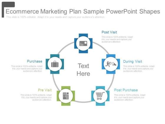 Ecommerce Marketing Plan Sample Powerpoint Shapes