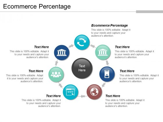 Ecommerce Percentage Ppt PowerPoint Presentation Infographic Template Model Cpb