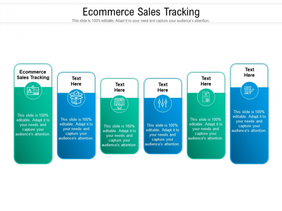Ecommerce Sales Tracking Ppt PowerPoint Presentation Gallery Slide Portrait Cpb Pdf
