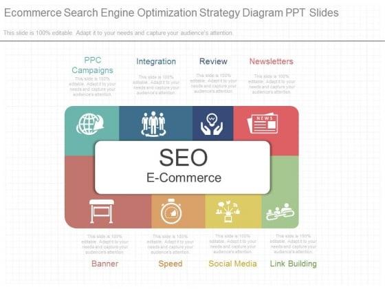 Ecommerce Search Engine Optimization Strategy Diagram Ppt Slides