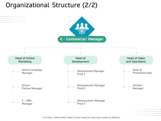 Ecommerce Solution Providers Organizational Structure Sales Ppt Pictures Grid PDF