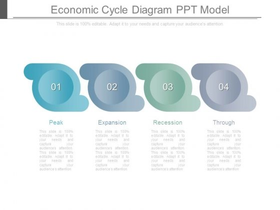 Economic Cycle Diagram Ppt Model