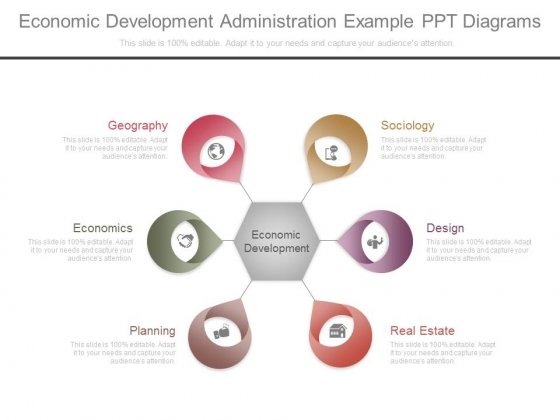 Economic Development Administration Example Ppt Diagrams