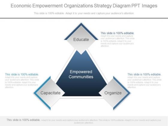 Economic Empowerment Organizations Strategy Diagram Ppt Images