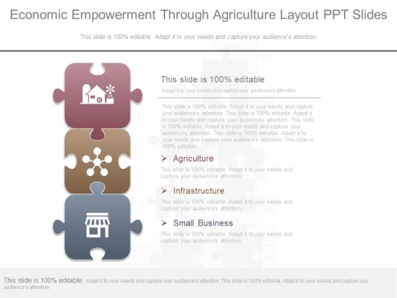 Economic Empowerment Through Agriculture Layout Ppt Slides