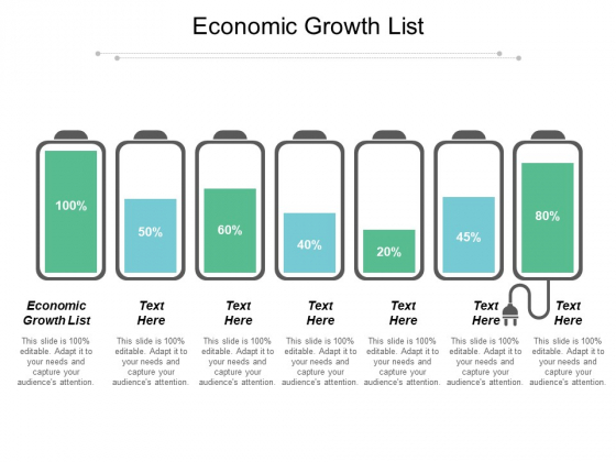 Economic Growth List Ppt PowerPoint Presentation Summary Aids Cpb
