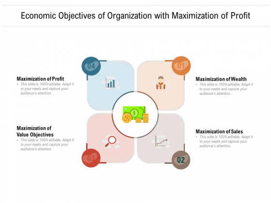 Economic Objectives Of Organization With Maximization Of Profit Ppt PowerPoint Presentation File Visual Aids PDF