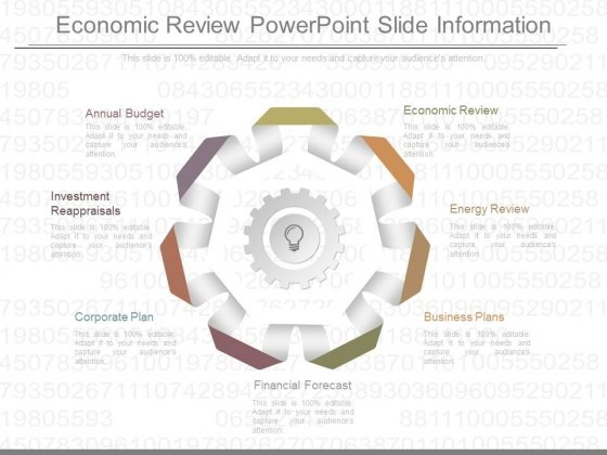 Economic Review Powerpoint Slide Information