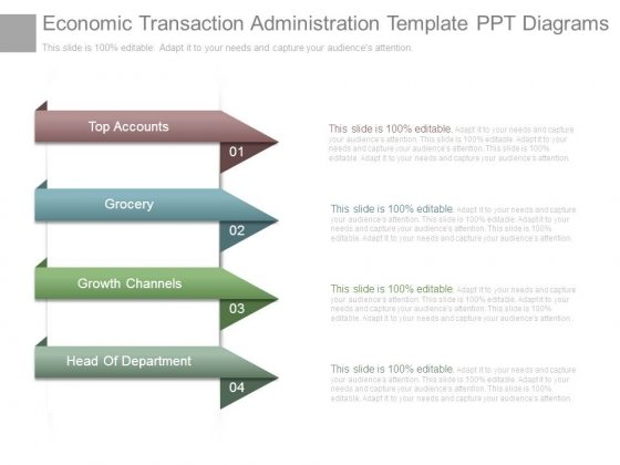 Economic Transaction Administration Template Ppt Diagrams