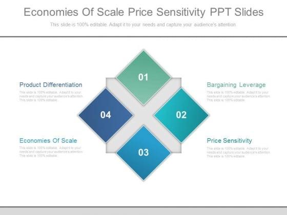 Economies Of Scale Price Sensitivity Ppt Slides
