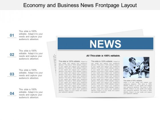 Economy And Business News Frontpage Layout Ppt Powerpoint