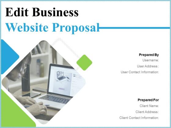 Edit Business Website Proposal Ppt PowerPoint Presentation Complete Deck With Slides
