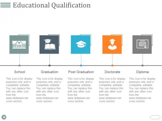 Educational Qualification Ppt PowerPoint Presentation Gallery Format
