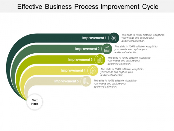 Effective Business Process Improvement Cycle Ppt PowerPoint Presentation Infographics Graphic Images