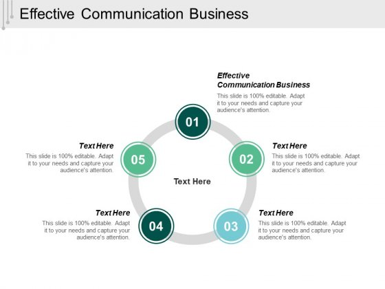 Effective Communication Business Ppt Powerpoint Presentation Ideas Elements Cpb