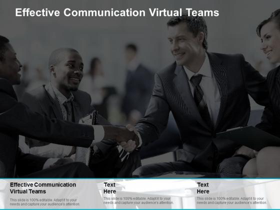 Effective Communication Virtual Teams Ppt PowerPoint Presentation Icon Microsoft Cpb