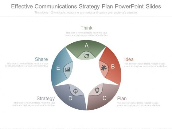 Effective Communications Strategy Plan Powerpoint Slides