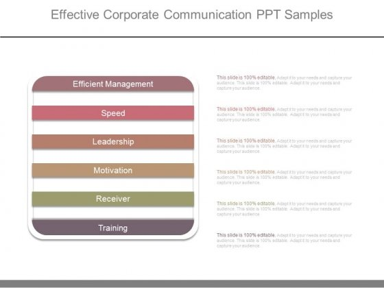 Effective Corporate Communication Ppt Samples