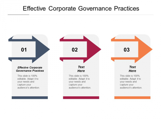 Effective Corporate Governance Practices Ppt PowerPoint Presentation Model Demonstration Cpb Pdf