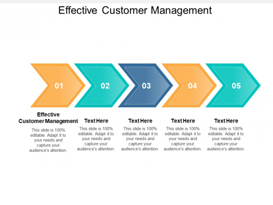 Effective Customer Management Ppt PowerPoint Presentation Outline Themes Cpb