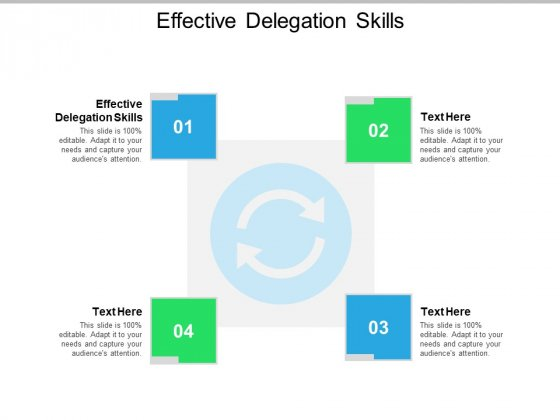 Effective Delegation Skills Ppt PowerPoint Presentation Model Template Cpb