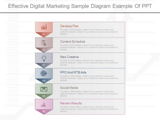 Effective Digital Marketing Sample Diagram Example Of Ppt