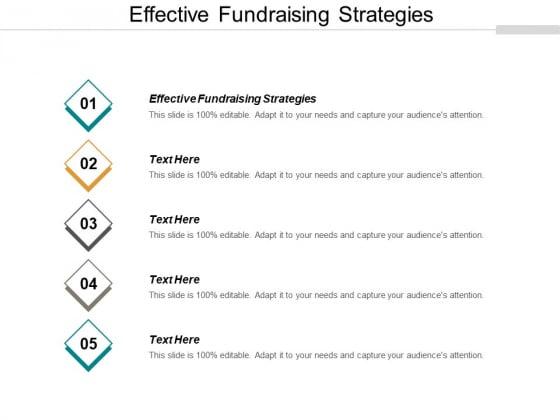 Effective Fundraising Strategies Ppt PowerPoint Presentation Portfolio Aids Cpb