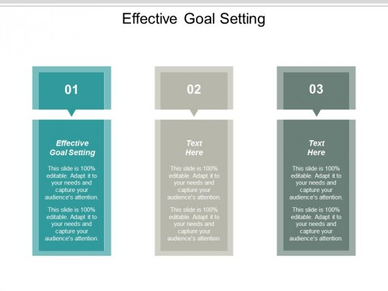 Effective Goal Setting Ppt PowerPoint Presentation Pictures Portfolio Cpb