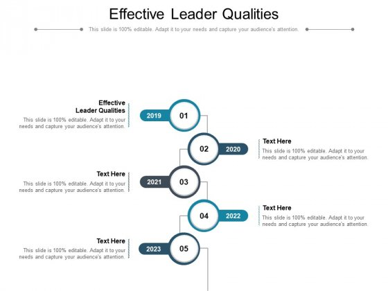 Effective Leader Qualities Ppt PowerPoint Presentation Icon Graphics Cpb Pdf