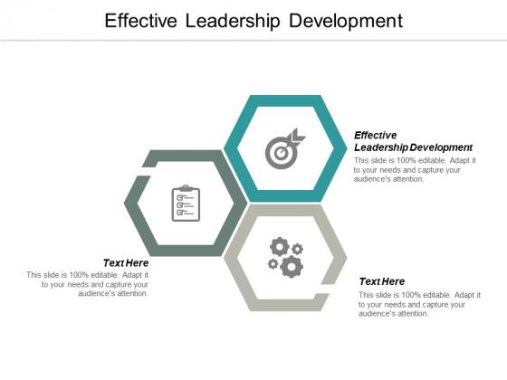 Effective Leadership Development Ppt PowerPoint Presentation Layouts Files Cpb