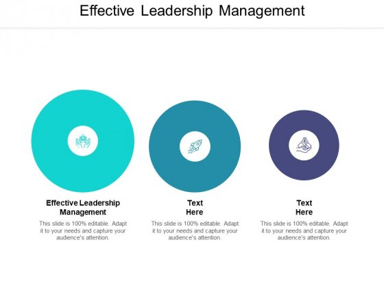 Effective Leadership Management Ppt PowerPoint Presentation Outline Brochure Cpb