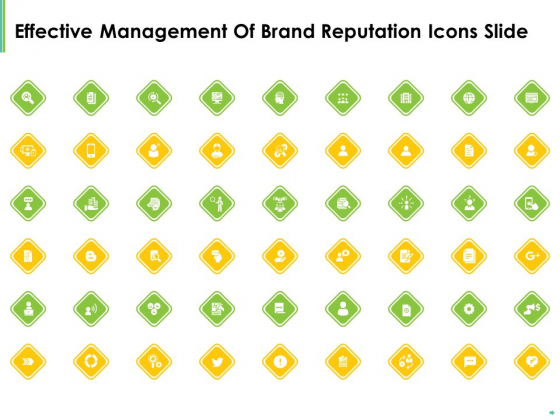 Effective Management Of Brand Reputation Icons Slide Ppt Outline Graphics Example PDF