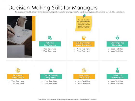 Effective Management Styles For Leaders Decision Making Skills For Managers Background PDF